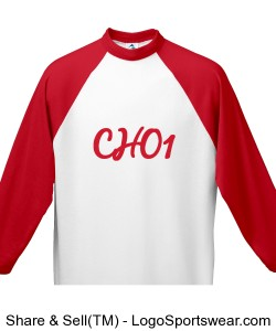 Youth 3/4 Sleeve 50/50 Raglan Sleeve Shirt Design Zoom